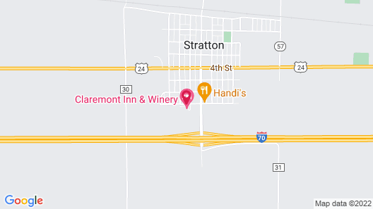 Claremont Inn & Winery Map