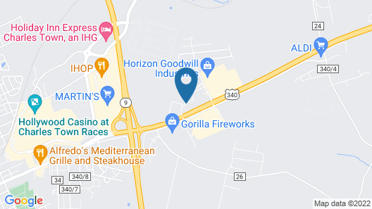 Motel 6 Charles Town, WV Map