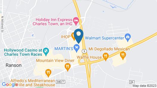 Hampton Inn & Suites Charles Town, WV Map