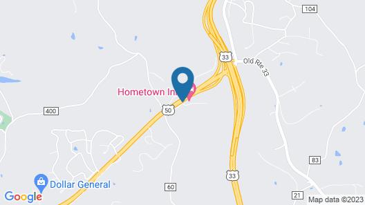 Hometown Inn Athens Map