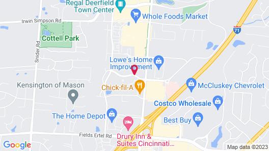 Holiday Inn Express & Suites Cincinnati - Mason Map