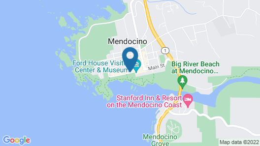 The Mendocino Hotel and Garden Suites Map
