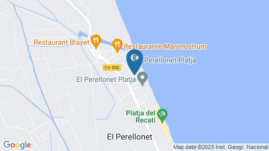 Villa en Première Ligne de Plage Près du Golf El Saler + Wifi. Valencia Map
