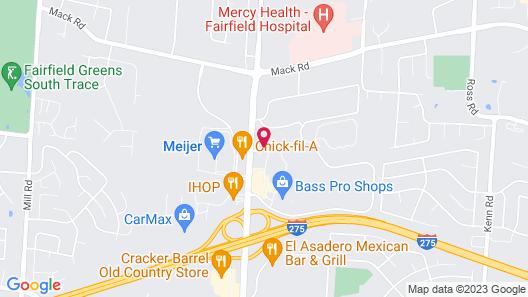 Hampton Inn Cincinnati NW/Fairfield Map