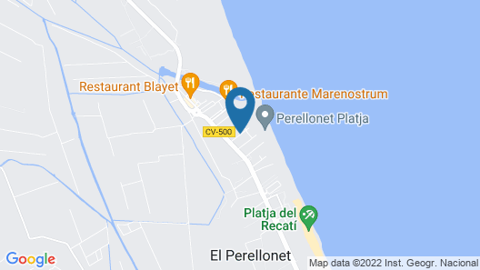 Valencia Flat Rental - Beach House Valencia Perellonet Map