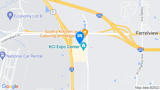 SureStay Plus Hotel by Best Western Kansas City Airport Map