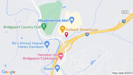 Super 8 by Wyndham Bridgeport/Clarksburg Area Map
