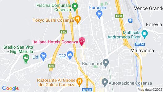 Italiana Hotels Cosenza Map