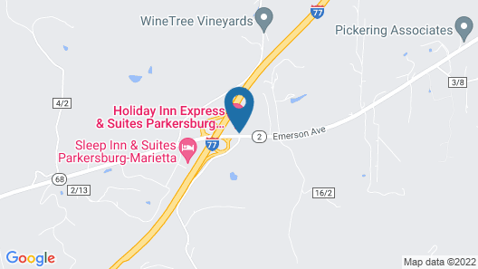 Holiday Inn Express & Suites Parkersburg East, an IHG Hotel Map