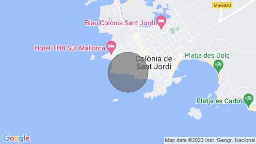 VILLA WITH SEA VIEWS, COLONIA DE SANT JORDI Map