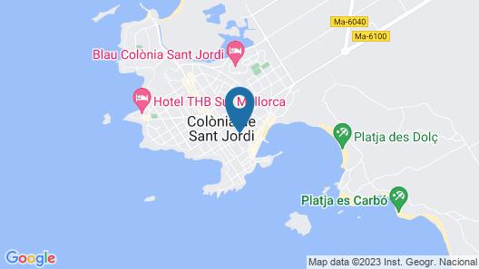 Apartamentos ES Trenc Map