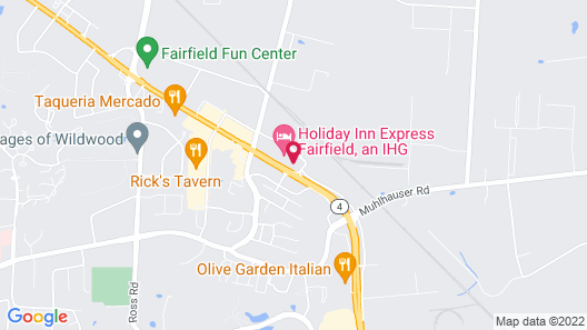 InTown Suites Extended Stay Cincinnati OH - Fairfield Map