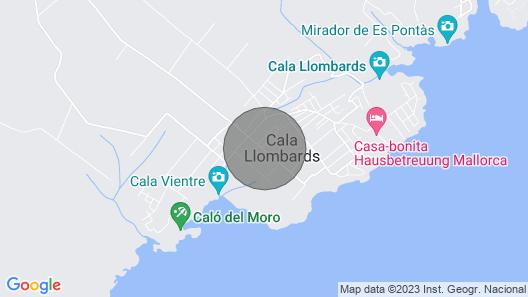 Sa Llimonera » family holiday, 4 bedroom house next to the beach Map