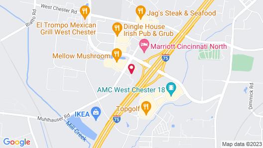 Hilton Garden Inn Cincinnati/West Chester Map
