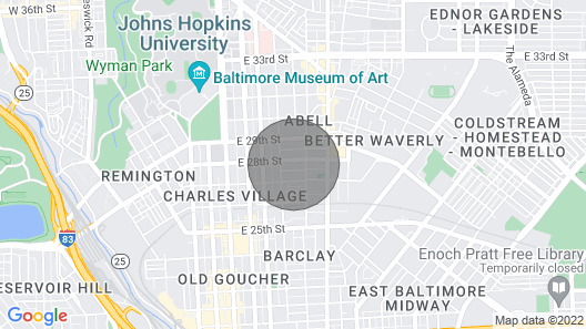 Charming Home Near Johns Hopkins University Map