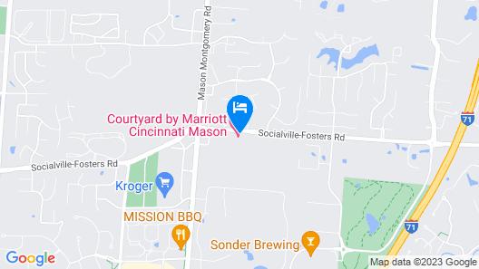 Courtyard by Marriott Cincinnati Mason Map