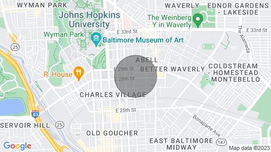 Spacious Charles Village Unit Map