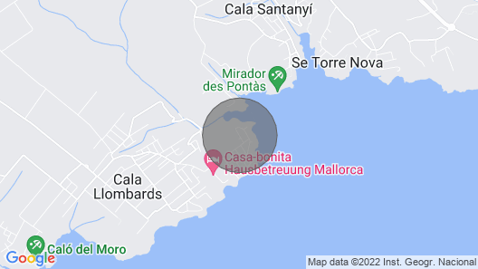 House With Free Wifi, Pool, air Conditioning and Barbecue in Cala Llombards Map