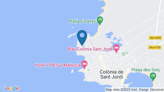 Apartamentos Ibiza Map