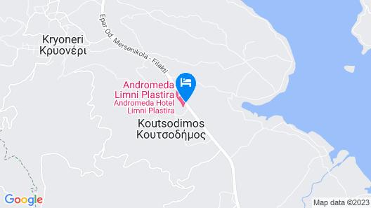 Andromeda Hotel Limni Plastira Map