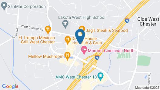 Aloft Cincinnati West Chester Map