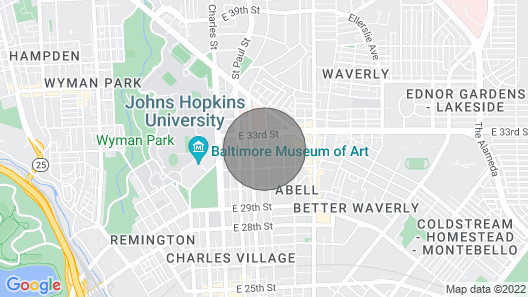 Walk to Johns Hopkins Main Campus or Union Memorial Hospital Map