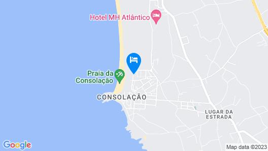 Villa in Praia da Consolação on the Seafront Near Supertubos / Baleal Map