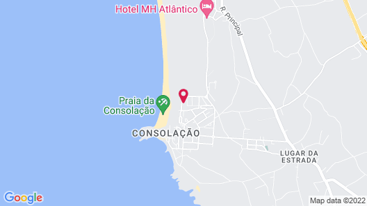 Supertubos Beach Hostel Map
