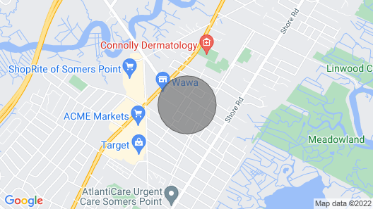 In Heart of Somers Point Sleeps 4 Easy Parking Map