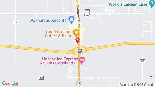 Super 8 by Wyndham Goodland Map