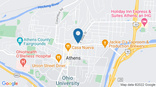 Athens Central Hotel Map