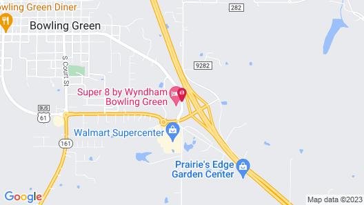Super 8 by Wyndham Bowling Green Map