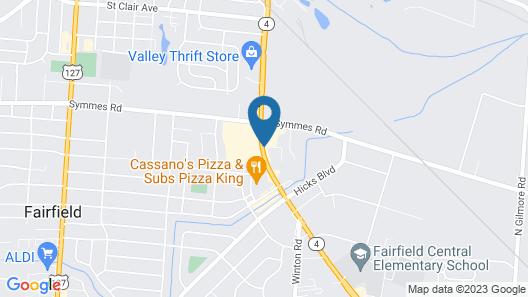 America's Best Value Inn Fairfield Map