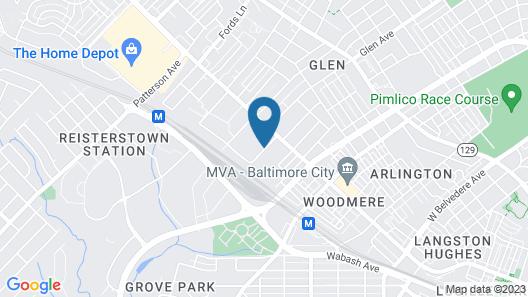 Quality Inn Near Pimlico Racetrack Map