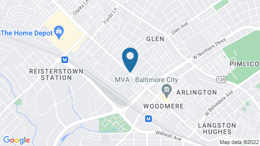 Red Roof Inn Baltimore Northwest Map