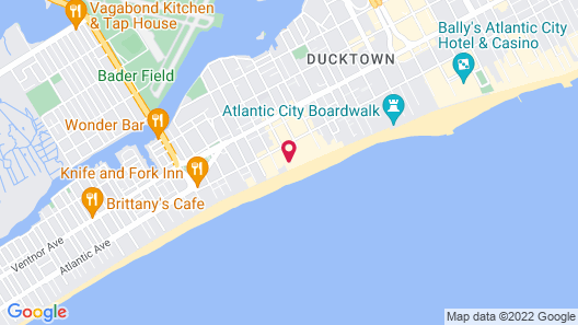 Days Inn by Wyndham Atlantic City Oceanfront-Boardwalk Map