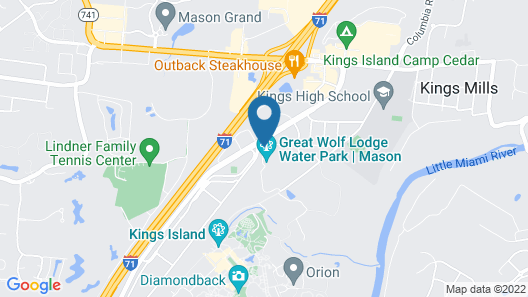 Great Wolf Lodge Cincinnati/Mason Map