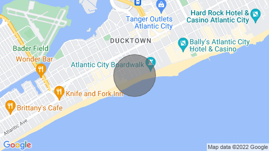 Steps to the Beach +world Famous Atlantic City Boardwalk! Map