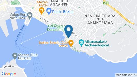 Domotel Xenia Volou Map