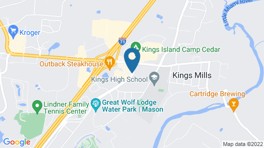 Comfort Suites Kings Island Map