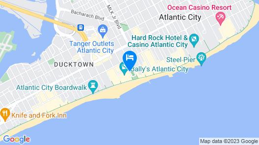Bally's Atlantic City Hotel & Casino Map