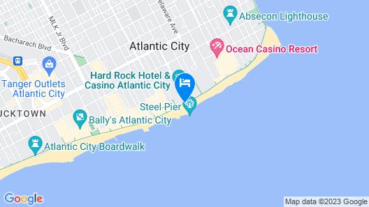 Hard Rock Hotel & Casino Atlantic City Map