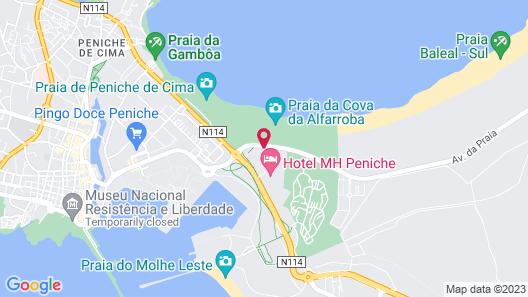 Star Inn Peniche Map