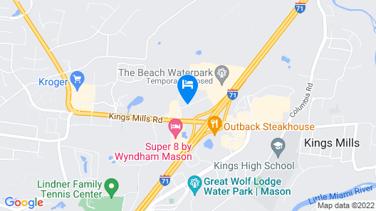 Tru by Hilton Mason Kings Island Map