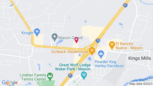 Hampton Inn Cincinnati/Kings Island Map