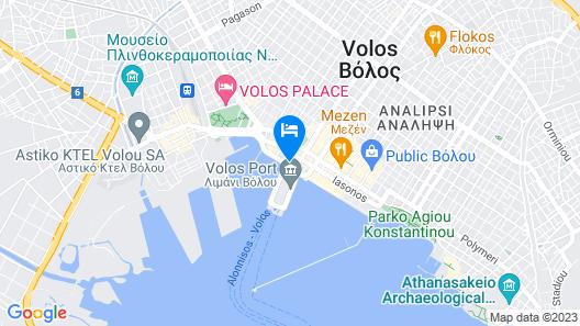 Hotel Aegli Map