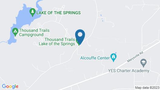 Lake of the Springs RV Resort Map