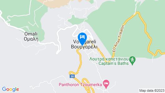Rouista Tzoumerka Resort Map