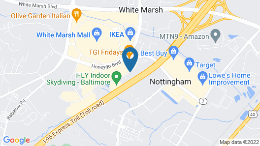 Hampton Inn Baltimore/White Marsh Map