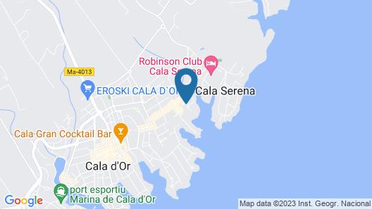 Cala Ferrera Hotel Map